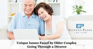 Older Couples Going Through a Divorce